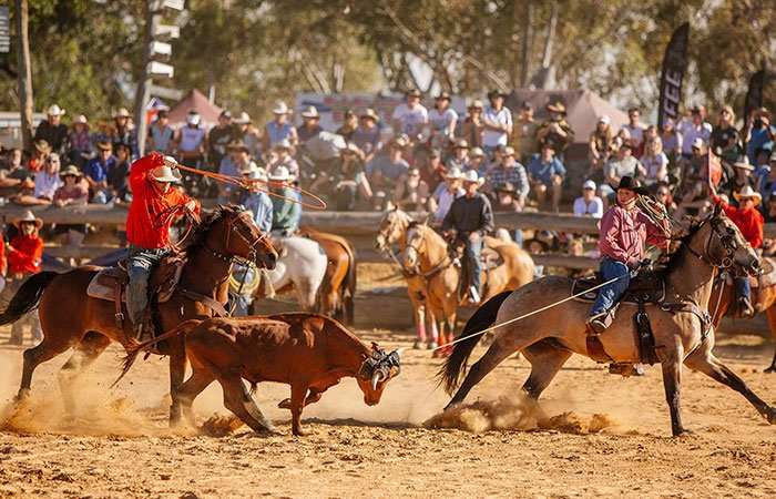 Roping School at Boddington Rodeo